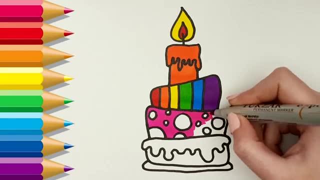 儿童简笔画: 画画三层蛋糕