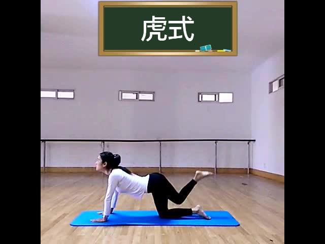 上帝姐姐瑜伽教学视频—虎式的正确姿势