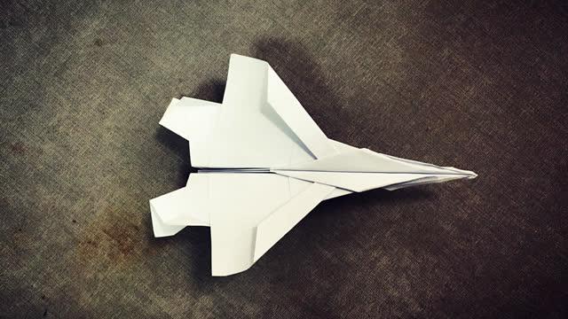 第277期 手工折纸:纸飞机 f15战斗机折纸视频