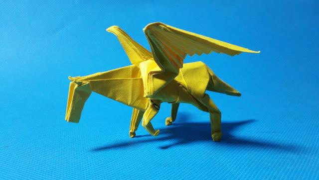 折纸王子教你折神谷哲史的天马 第四段