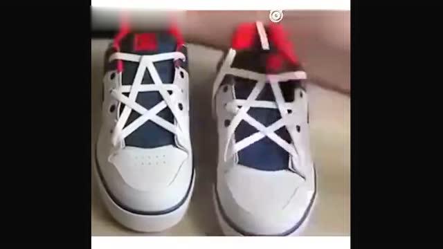 五角星鞋带系法!速速get逼格提起来!