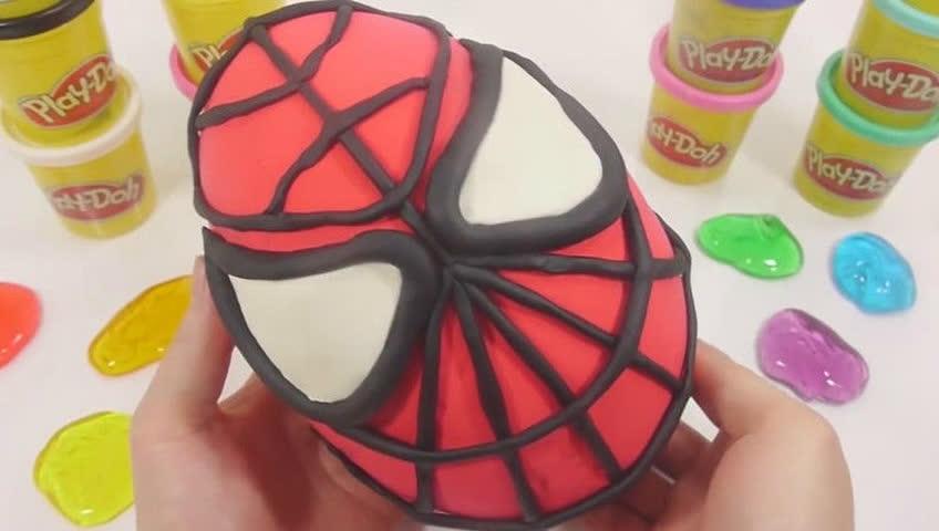 水晶泥蜘蛛侠彩泥粘土惊喜奇趣蛋玩具视频