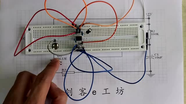 ne555触摸延时电路diy,学习电子电路知识就这么简单