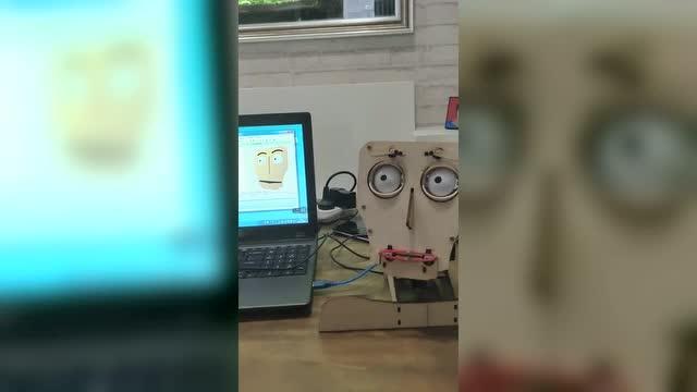 高科技,手工制作电脑控制表情人