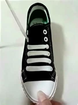 花式鞋带绑法教学,最简单的一字式!
