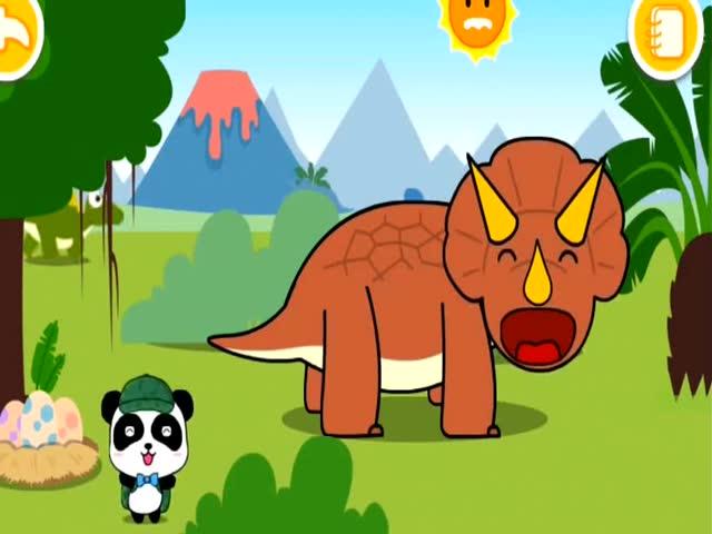 宝宝巴士恐龙乐园:机智的三角龙和偷蛋龙图片