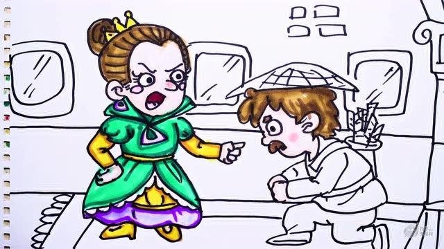神笔简笔画 中外童话故事 白雪公主,儿童绘画马克笔教程大全