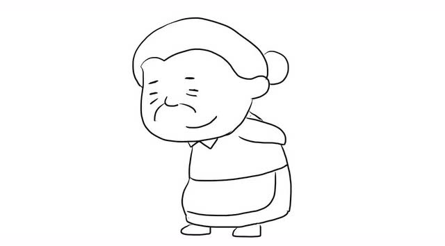 老奶奶亲子绘画儿童简笔画视频 宝宝轻松学画画
