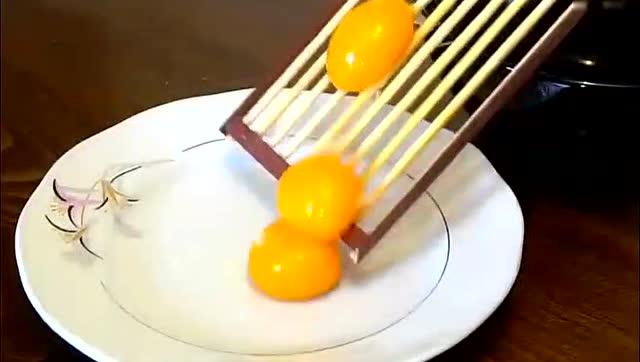 科学小发明,一个简单的鸡蛋分离工具,很实用很方便!