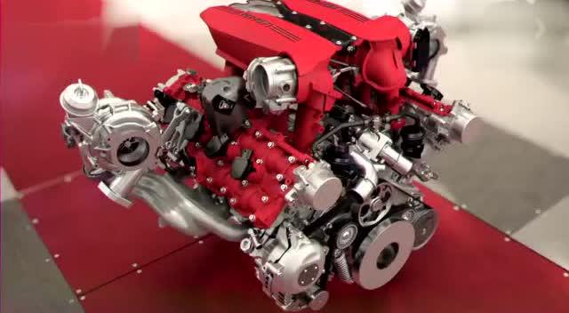 涡轮化跃马 法拉利488 gtb发动机展示
