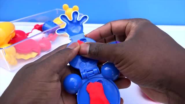 彩泥diy:米奇棒棒糖制作小彩蝶