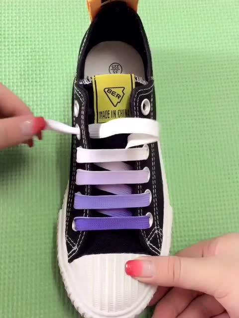 流行的渐变色一字鞋带系带教学 - 时尚 - 3023视频