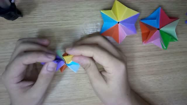 手工系列教程 折纸 六芒星折法
