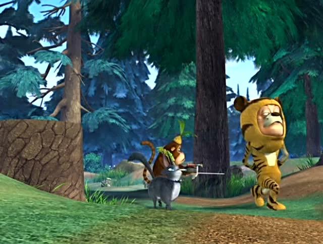 光头强假扮老虎,将森林里的动物们收拾的服服帖帖