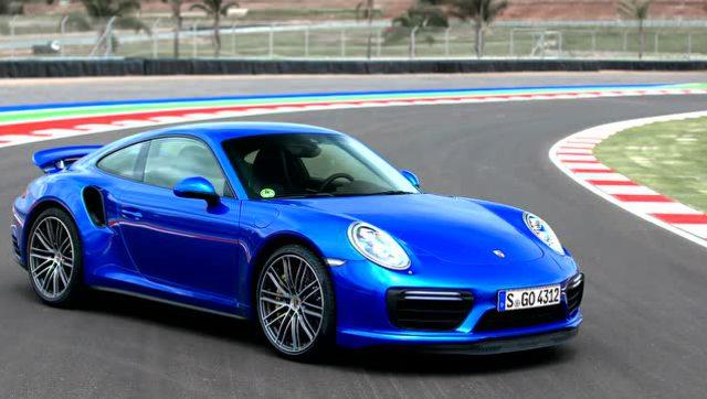 蓝宝石金属漆保时捷porsche 911 turbo鉴赏