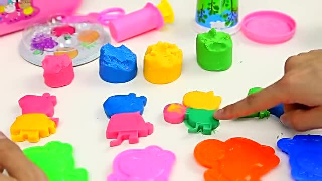 粉红猪小妹野餐彩泥玩具 小猪佩奇制作水果面