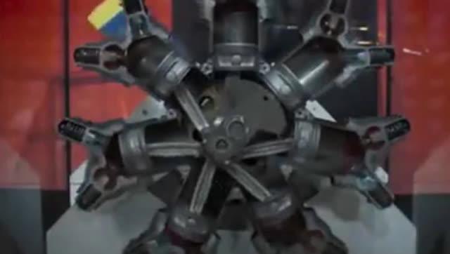 飞机的星形�yb�9�._飞机发动机 星形发动机工作原理 3d演示!