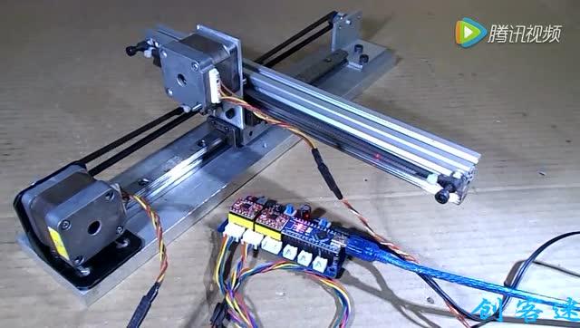 自制十字型axidraw axi cnc绘图激光多用机