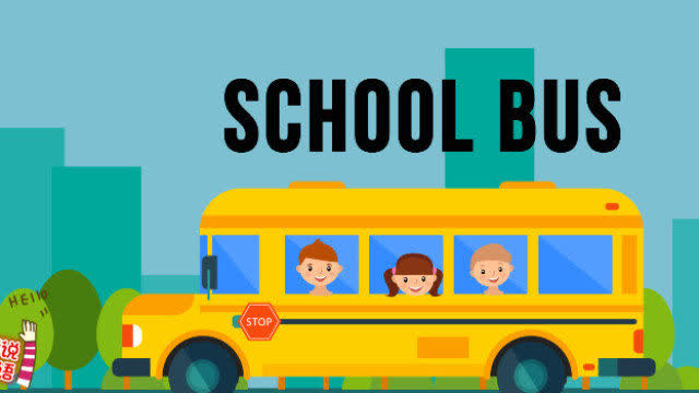 幼儿英语启蒙动画学单词之小汽车系列school bus校车图片