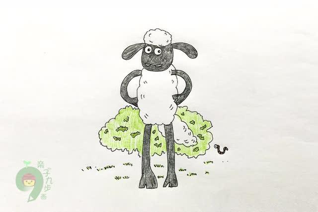 小羊肖恩简笔画