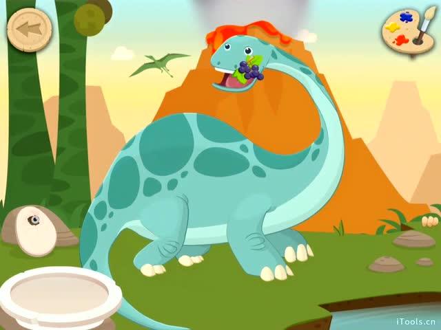 恐龙公园恐龙世界考古学家认识恐龙古生物化石大蜥蜴之称的迷惑龙图片