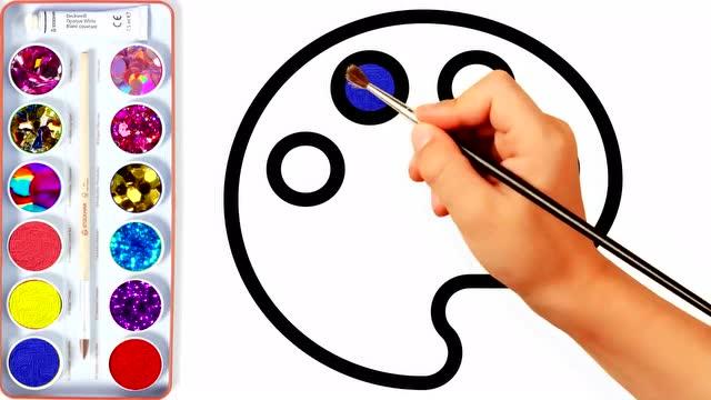 凯蒂猫星星礼物盒冰淇淋简笔画上色教程 教孩子学习颜色