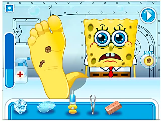海绵宝宝脚怎么受伤了游戏