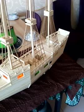 一次性筷子做轮船,厉害了我的哥