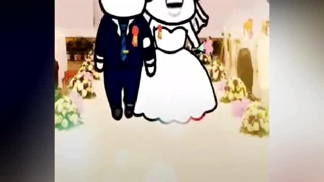 搞笑表情包:爆笑蘑菇头结婚了!