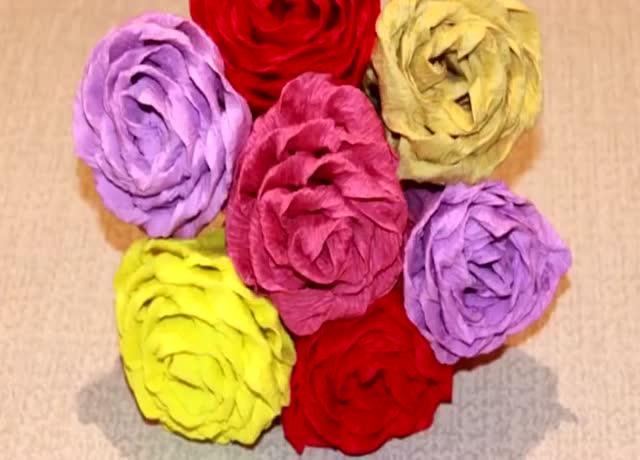 手工制作漂亮的皱纹纸玫瑰花,瞬间点亮你的家
