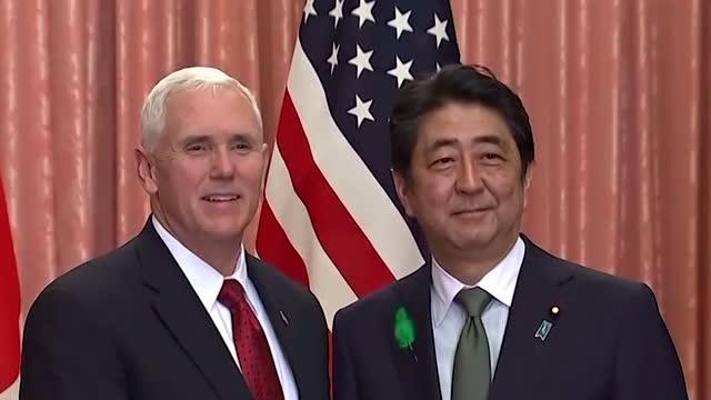 日本 美副总统彭斯到访 会晤安倍商讨朝鲜问题