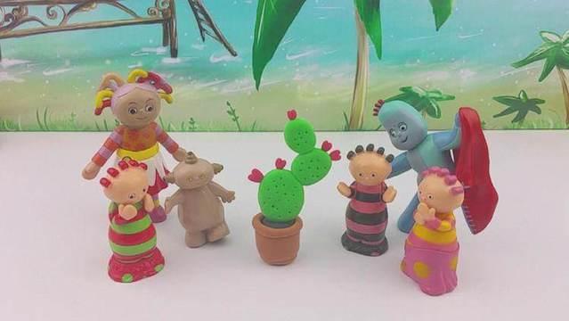 花园宝宝手工diy盆栽仙人掌花教程 培乐多超轻粘土玩具游戏