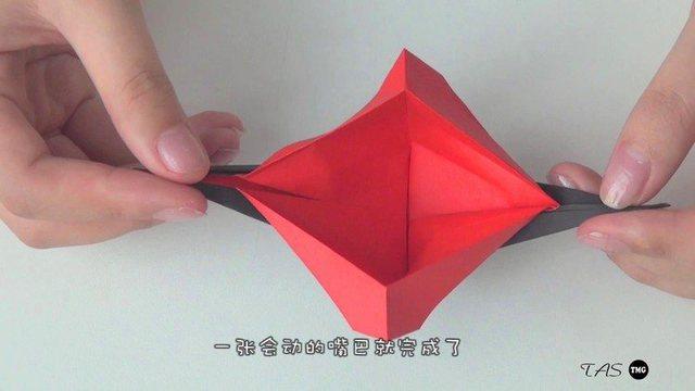 小爱的折纸 会动的大嘴巴
