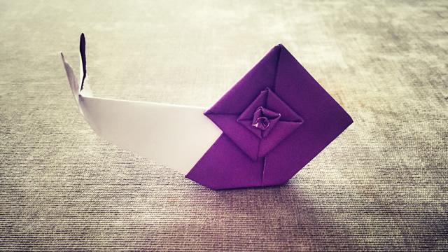 第222期 手工折纸:蜗牛折纸视频教学