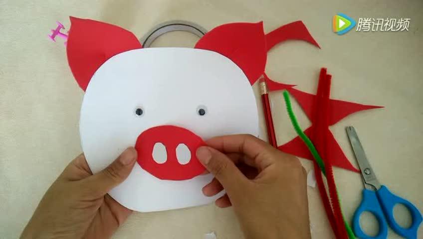 益智手工制作-自制小猪扇子