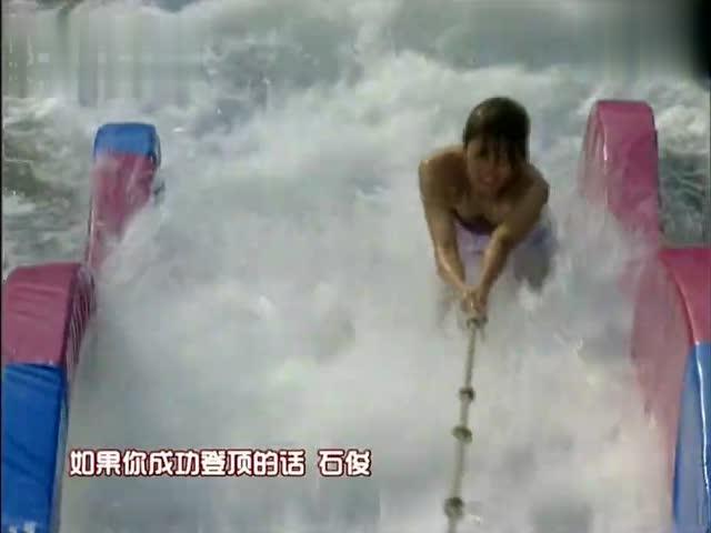 泳衣美女挑战水上闯关,全程通关竟只用1分35秒!