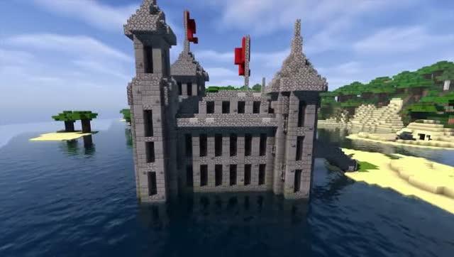 我的世界 - 建立一个迷你城堡!