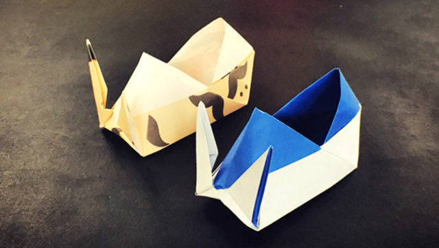 纸在乎你 亲子手工 可爱的兔子鞋子折纸