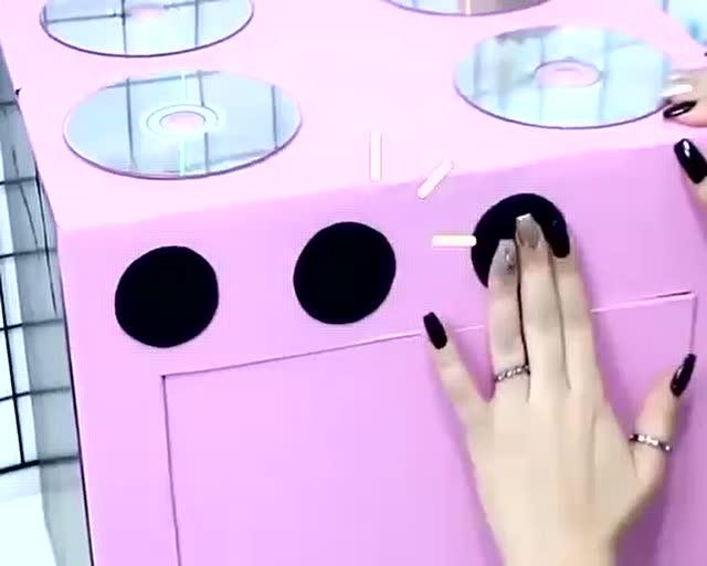 儿童手工小制作-简单几步用硬纸板制作创意儿童玩具厨房
