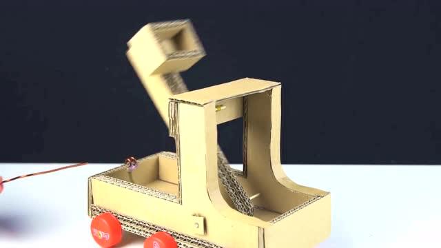 儿童玩具diy小制作:纸板投石机,简单易学!