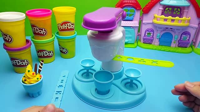 小猪佩奇培乐多彩泥手工制作冰淇淋