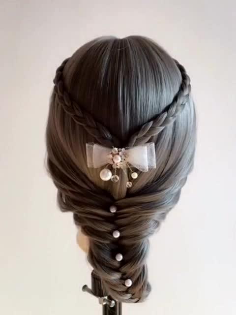 发型教程,新娘皇冠发型教程