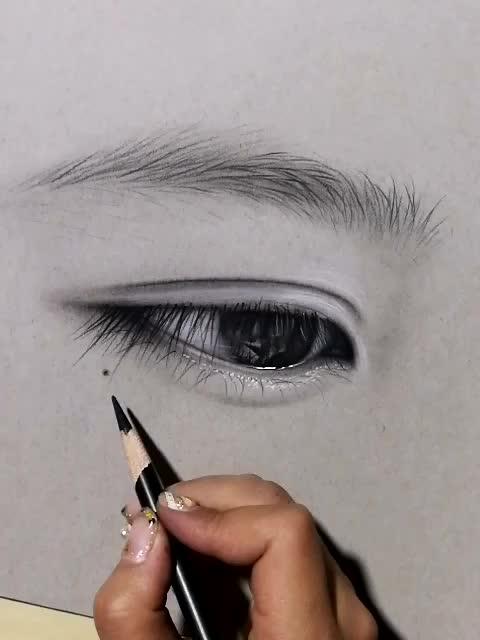 自学画眼睛,眼睛素描教程视频