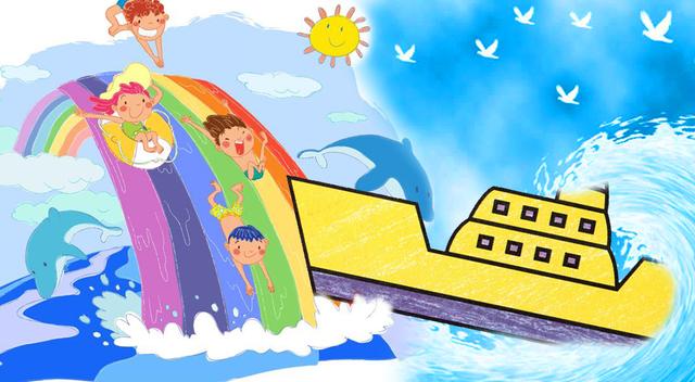 怎样画轮船 幼儿简笔画大全