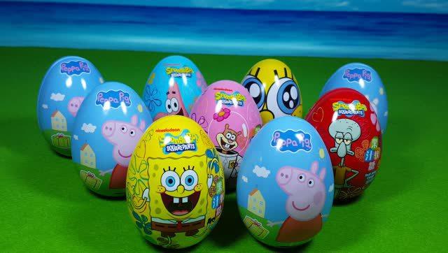 海绵宝宝 小猪佩奇 奇趣蛋玩具视频