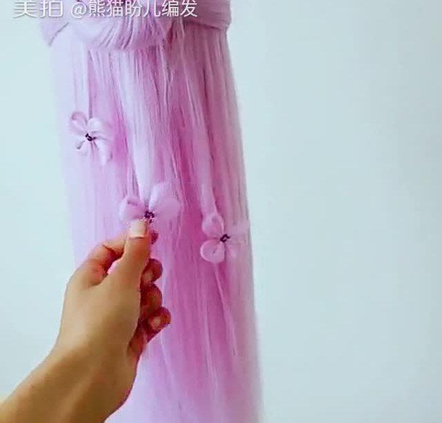 【编发教程】清甜四叶草编发发型设计,小清新风赚足回头率
