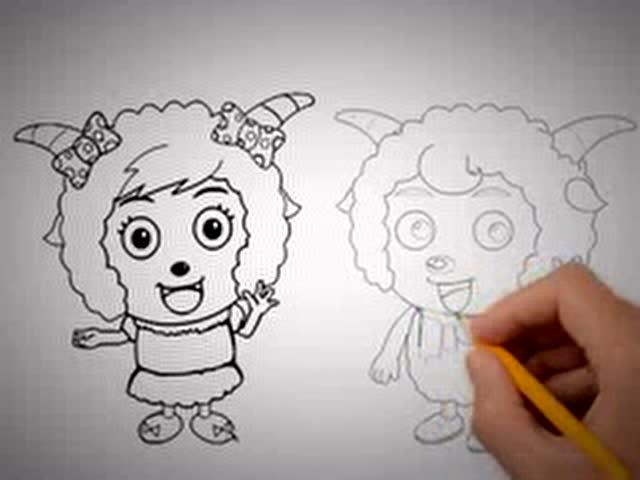 喜洋洋和懒洋洋 教你画画 手绘漫画