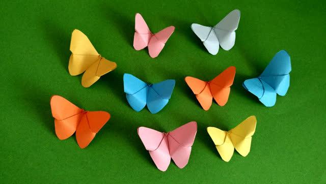 亲子折纸 秒折蝴蝶 十个步骤完成
