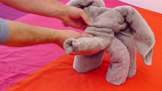 浴巾叠动物视频