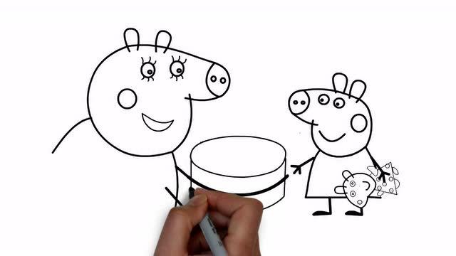 小猪佩奇 佩奇的生日派对 简笔画涂色书
